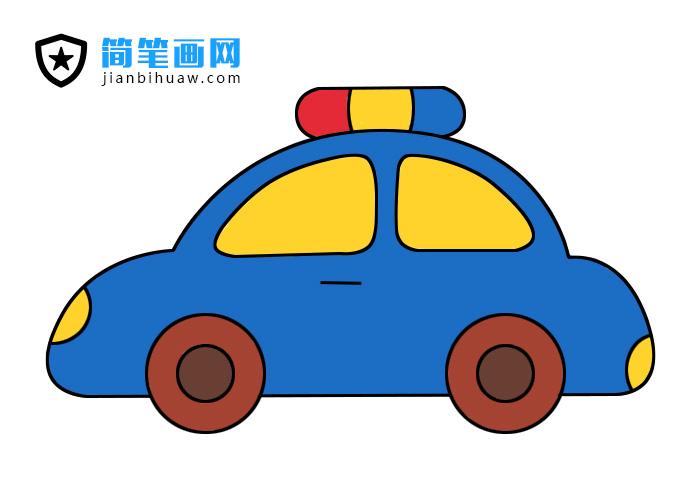 小汽车简笔画步骤以及上色