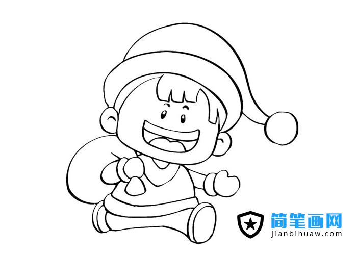奔跑中的小孩简笔画图片