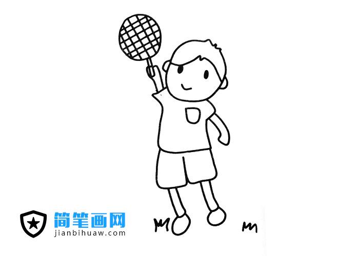 打球的小男孩简笔画图片
